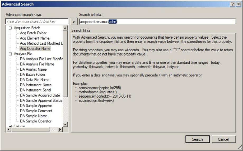 OpenLAB Data Store for MS を用いれば、どのような ICP-MS MassHunter ファイルやドキュメントでも、迅速かつ容易に検索できます。